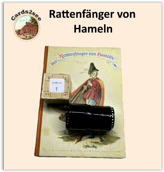 Historischer Diafilm - Rattenfänger von Hameln
