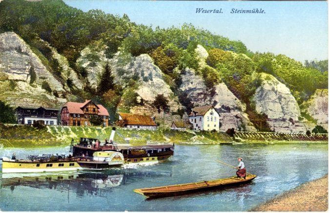 Raddampfer bei der Steinmühle
