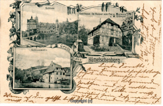 1070A-Haemelschenburg004-Multibilder-Schloss-Gasthaus-Im-Kaiser-Muehle-1903-Scan-Vorderseite.jpg