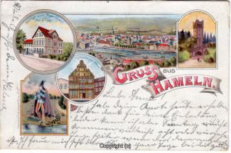 0130A-Hameln1407-Multibilder-Ort-Rattenfaenger-Haus-Rosenbusch-Litho-1900-Scan-Vorderseite.jpg