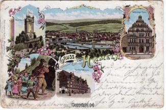 0140A-Hameln1408-Multibilder-Ort-Rattenfaenger-Haus-Litho-1898-Scan-Vorderseite.jpg