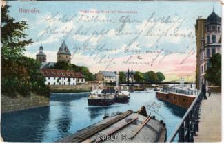 8441A-Hameln1703-Wehr-unten-Wesermuehle-1909-Scan-Vorderseite.jpg