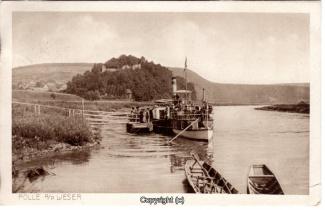 0490A-Polle024-Panorama-Burgberg-Weser-Raddampfer-Schiffsanleger-1917-Scan-Vorderseite.jpg