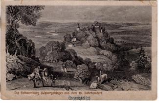 0080A-Schaumburg002-Panorama-Burg-Historie-15-Jahrh-Litho-1922-Scan-Vorderseite.jpg