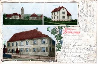 0070A-Blansingen002-Multibilder-Ort,-Gasthaus-Roemischer-Hof-Litho-1913-Scan-Vorderseite.jpg