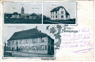 0080A-Blansingen003-Multibilder-Kirche,-Gasthaus-Roemischer-Hof-1913-Scan-Vorderseite.jpg